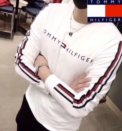 Tommy Hilfiger Tシャツ・カットソー 2018年秋冬最新作★完売必至!TOMMYトミー★ロゴ 長袖Tシャツ