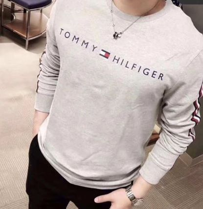 Tommy Hilfiger Tシャツ・カットソー 2018年秋冬最新作★完売必至!TOMMYトミー★ロゴ 長袖Tシャツ(3)