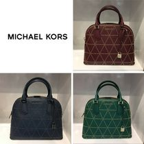 【Michael Kors】新作☆お洒落♪ADELE LG DOME  SATCHEL 2way☆