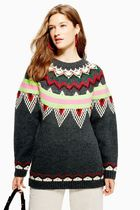 《一枚でかわいい♪》☆TOPSHOP☆Stripe Fair Isle Jumper