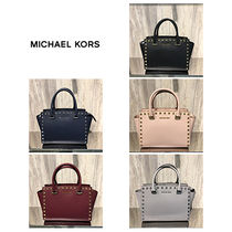 【Michael Kors】人気☆スタッズSELMA MD SATCHEL 2way☆Mサイズ