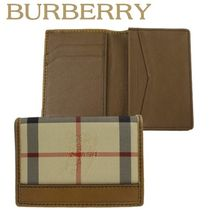 Burberry正規品/EMS/送料込み Horseferry Check Card Holder