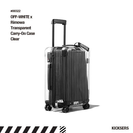 Off-White スーツケース 人気話題!OFF-WHITE x Rimowa Transparent Carry-On Case Clear