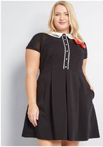 modcloth for hello kitty cheerful greeting collared dress