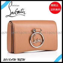 19New■Christian Louboutin■Rubylou Clutch Nude☆関税込