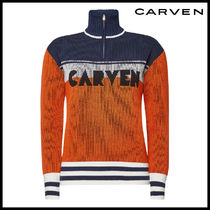CARVEN(カルヴェン)★Virgin Wool Pullover with Zipped Front