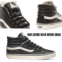 VANS★LEATHER SK8 HI REISSUE GHILLIE★ギリーシューズ★兼用