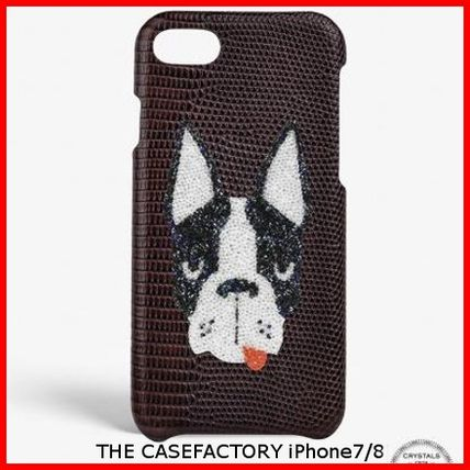 THE CASE FACTORY スマホケース・テックアクセサリー 関税送料込☆THE CASEFACTORY☆IPHONE 7/8 SWAROVSKI DOG
