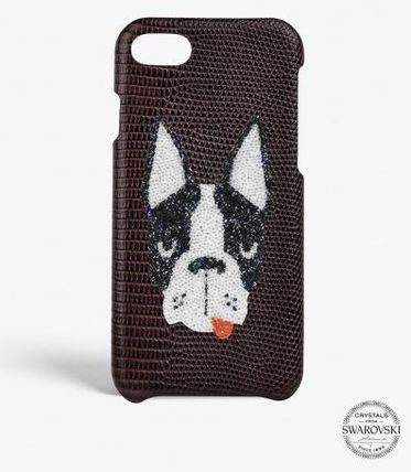 THE CASE FACTORY スマホケース・テックアクセサリー 関税送料込☆THE CASEFACTORY☆IPHONE 7/8 SWAROVSKI DOG(2)