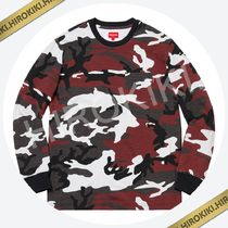18AW /Supreme L/S Pocket Tee ポケット Tシャツ ロンT Red Camo