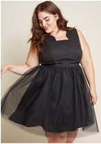 proud posture fit and flare dress
