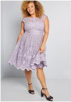 chi chi london exquisite elegance lace dress in lavender