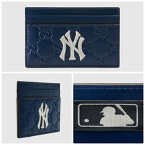 GUCCI  Card case with NY Yankees patch