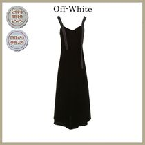 2018-19秋冬Off-white long velvet dress