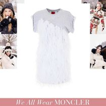 VIP SALE MONCLER GAMME ROUGE 異素材ミックス グレーワンピース