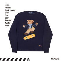 人気話題!Palace Ralph Lauren Skate Polo Bear Sweater