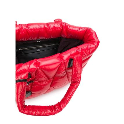 MONCLER トートバッグ SALE【MONCLER】POWDER パデッド トートバッグ RED(3)