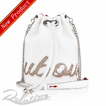 ★19SS★【Louboutin】Marie Jane バケットバッグ/White