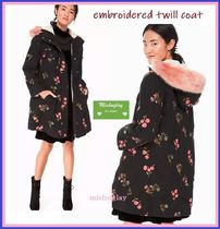 【kate spade】ボア付であったか♪embroidered twill coat★