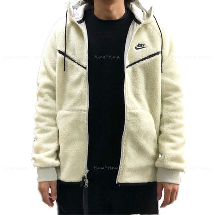 Nike パーカー・フーディ 【完売必至】NIKE TECH WINDRUNNER ICON SHRPA HOODIE 男女OK!(2)