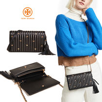 国内発送【TORY BURCH】Star Stud ☆ Cross-body お財布バッグ