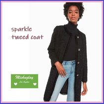 【kate spade】キラキラツイードが素敵★sparkle tweed coat★