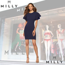 ★MILLY★ Contrast Knit Flutter Dress