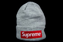 FW18 SUPREME NEW ERA BOX LOGO BEANIE HEATHER GREY  送料無料