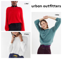 【UrbanOutfitters】 Sweet As A Peach Fuzzy Mock-Neck Sweater