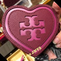 3‐5日着可☆TORY BURCH☆LOGO HEART KEY FOB KEY FOB/小銭入れ