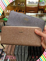 kate spade★burgess court lindsey★キラキラ長財布2色