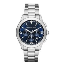 Michael Kors☆ Stainless Steel クロノグラフ腕時計 Blue Dial
