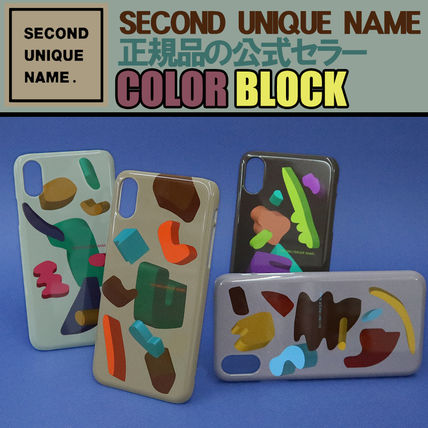 SECOND UNIQUE NAME スマホケース・テックアクセサリー 【NEW】「SECOND UNIQUE NAME」 Graphic COLOR Block 正規品