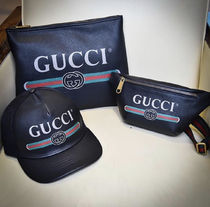 GUCCI VINTAGE LOGO LEATHER DOCUMENT HOLDER クラッチバッグ
