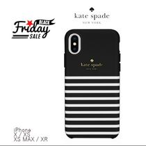 KATE SPADE iPhoneケースX/XS,XS Max,XRシックなボーダー☆SALE!