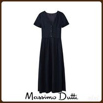 MassimoDutti♪NAVY DRESS WITH BUTTONS