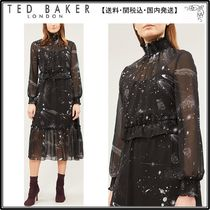 【関税込】TED BAKER ドレス☆Out of this world-print ruffle-t