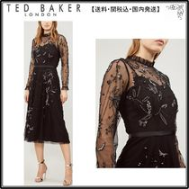 【関税込】TED BAKER ドレス☆Appliqued butterfly and floral-m