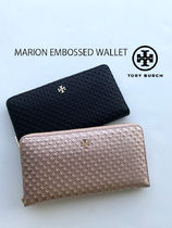 激安 TORY BURCH★MARION EMBOSSED WALLET 長財布*上品