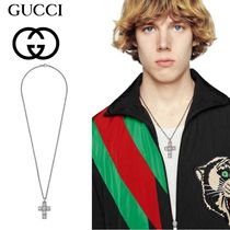 19 SS 【GUCCI】croce G Quadro in argento 十字架 ネックレス