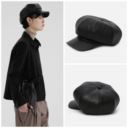 日本未入荷UNDERCONTROL CASTRO BERET / LEATHER CAP