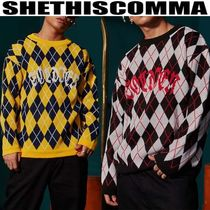 SHETHISCOMMA(シディスコンマ) ジャカード編SOLDIER ARGYLE KNIT