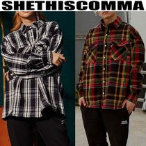 SHETHISCOMMA/OVER SIZEチェックシャツ/OVER CHECK SHIRTS
