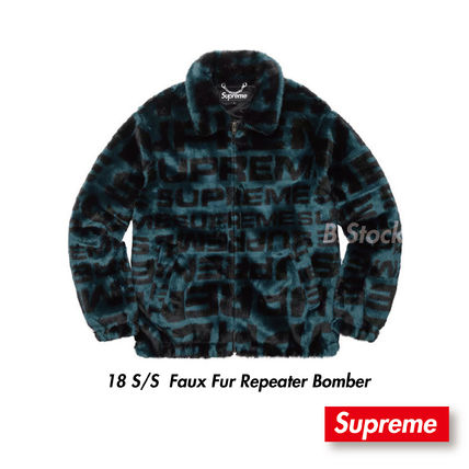 [18 S/S] 国内発送 Supreme  Faux Fur Repeater Bomber