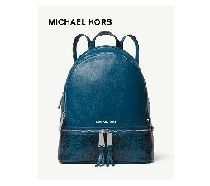 MICHAEL KORS Rhea Medium Pebbled & Snake-Skin Leather BKPK