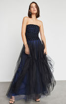 ★BCBG MAXAZRIA★ Strapless Embroidered Lace Gown ドレス