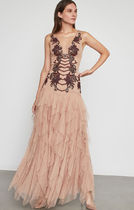 ★BCBG MAXAZRIA★ Floral Embroidered Tulle Gown ドレス