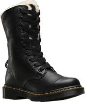【SALE】Dr. Martens Aimilita  Fur Lined 9-Eye Toe Cap Boot