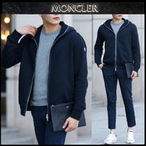 【MONCLER】18AW ワッフルフード ジップアップパーカーBLACK/EMS