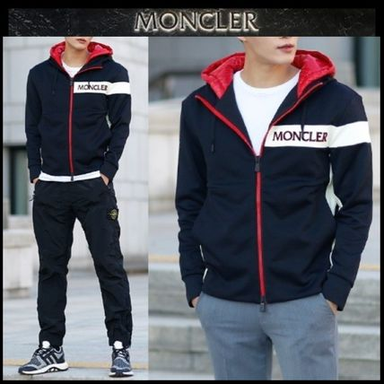 MONCLER パーカー・フーディ 【MONCLER】18AW異素材MIXダブルフードジップアップパーカー/EMS